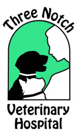 Three Notch Veterinary Logo Snapshot