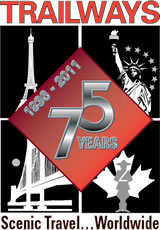 Trailways 75th Anniversary Logo Design